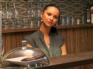 Marie Getty Barmaid Wants the Tip